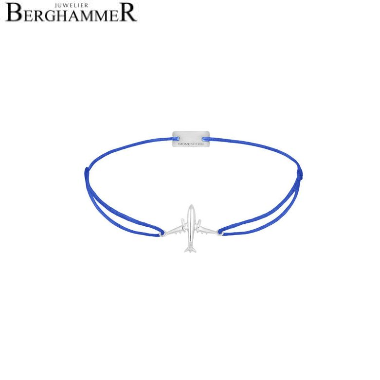 Filo Armband Textil Blitzblau Flugzeug 925 Silber rhodiniert 21204122