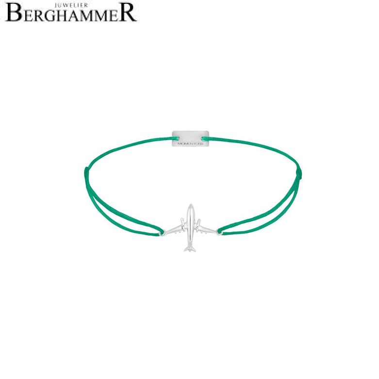 Filo Armband Textil Grasgrün Flugzeug 925 Silber rhodiniert 21204125