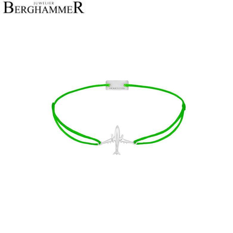 Filo Armband Textil Neon-Grün Flugzeug 925 Silber rhodiniert 21204126