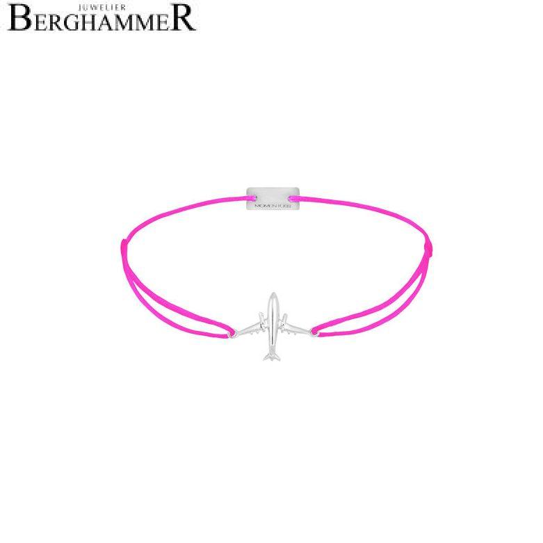 Filo Armband Textil Neon-Pink Flugzeug 925 Silber rhodiniert 21204130