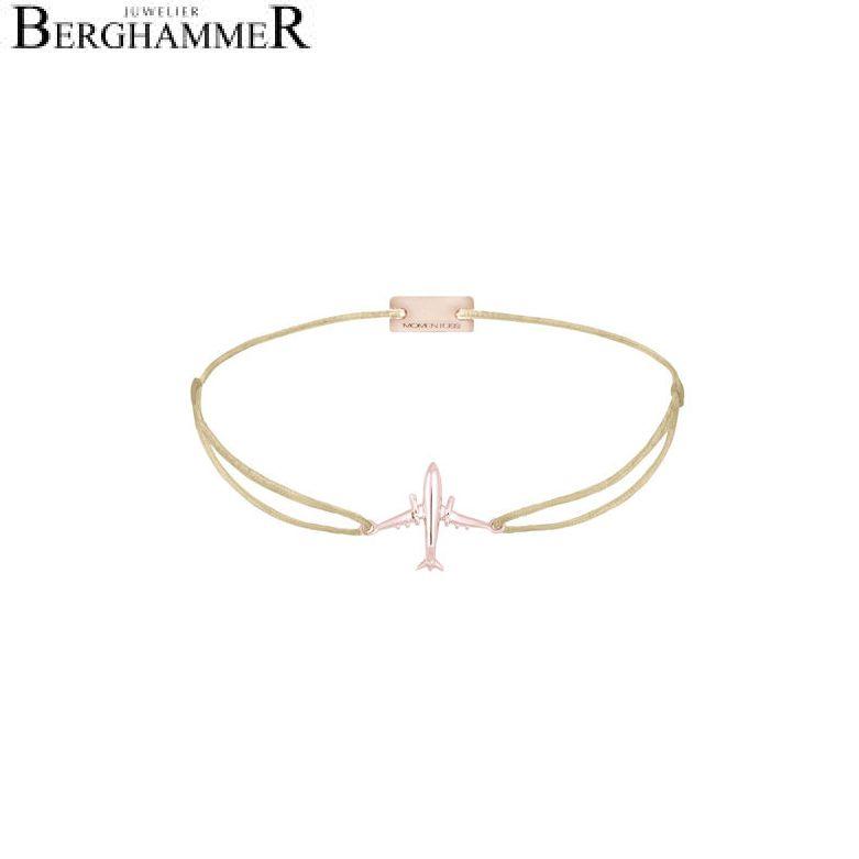 Filo Armband Textil Champagne Flugzeug 925 Silber roségold vergoldet 21204134