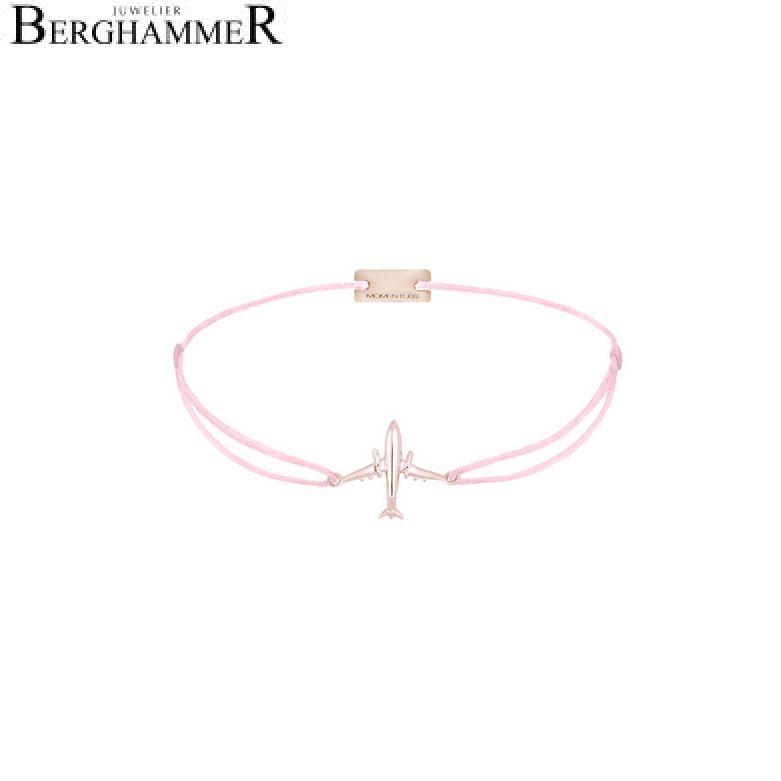 Filo Armband Textil Rosa Flugzeug 925 Silber roségold vergoldet 21204135