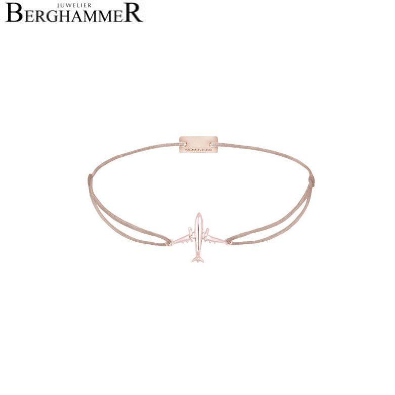Filo Armband Textil Beige Flugzeug 925 Silber roségold vergoldet 21204138