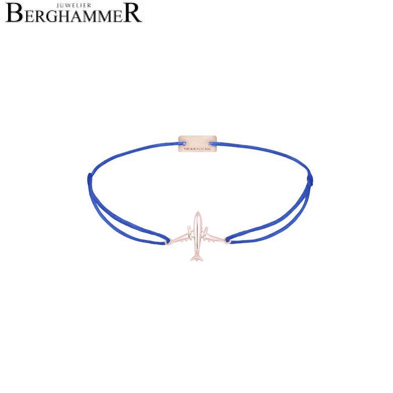 Filo Armband Textil Blitzblau Flugzeug 925 Silber roségold vergoldet 21204146