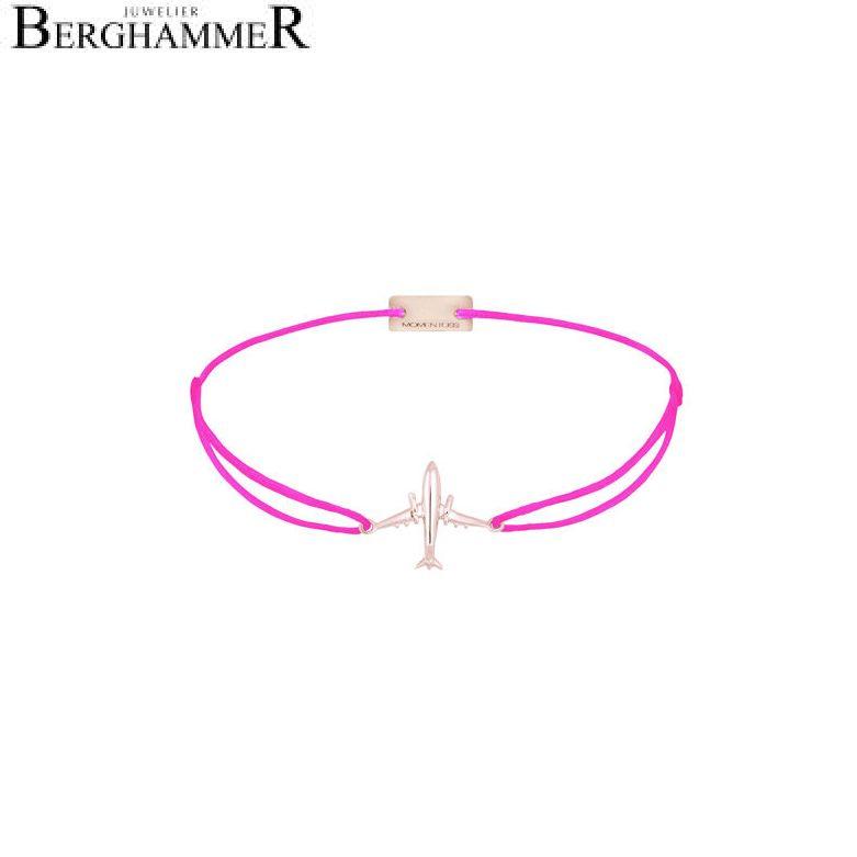 Filo Armband Textil Neon-Pink Flugzeug 925 Silber roségold vergoldet 21204154