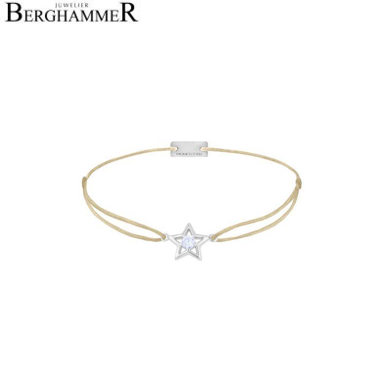 Filo Armband Textil Champagne Stern 925 Silber rhodiniert 21204158