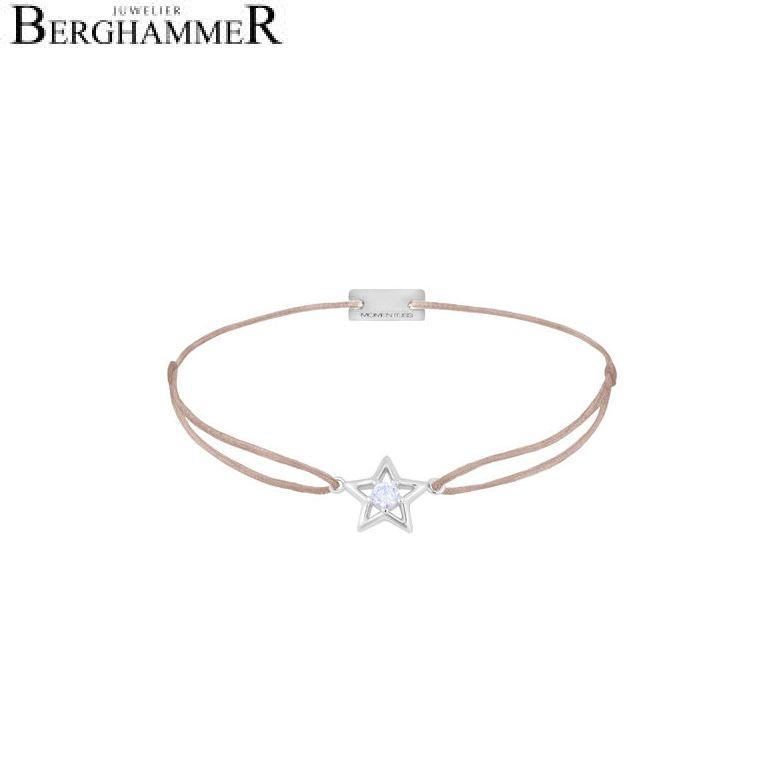 Filo Armband Textil Beige Stern 925 Silber rhodiniert 21204162