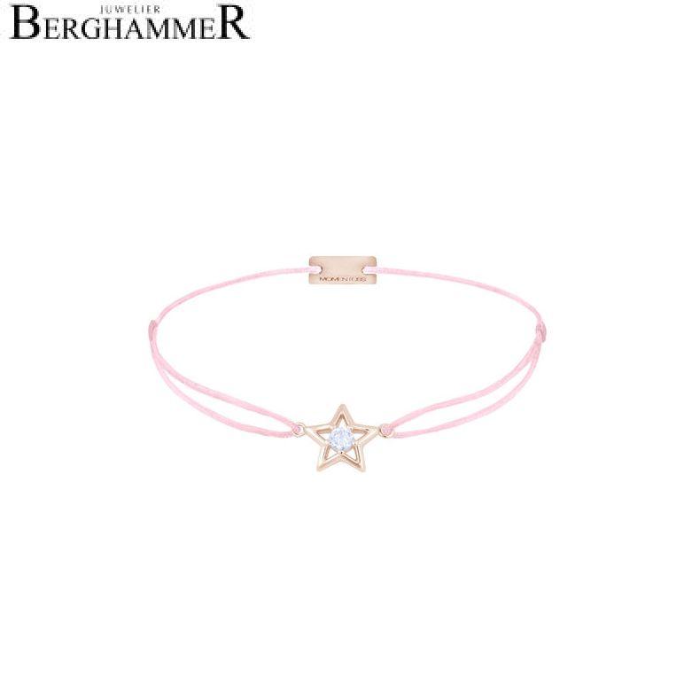 Filo Armband Textil Rosa Stern 925 Silber roségold vergoldet 21204183