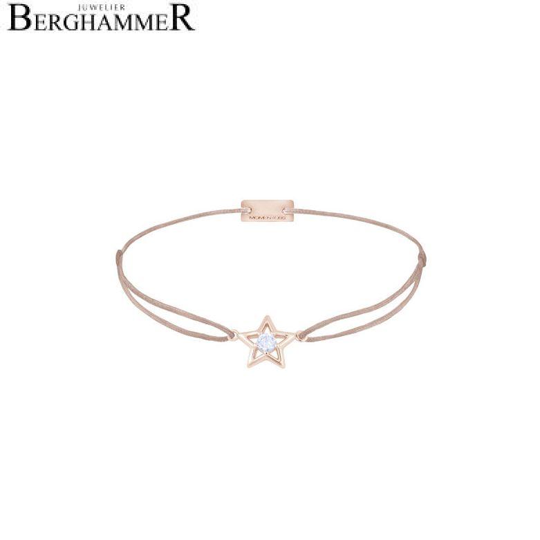 Filo Armband Textil Beige Stern 925 Silber roségold vergoldet 21204186