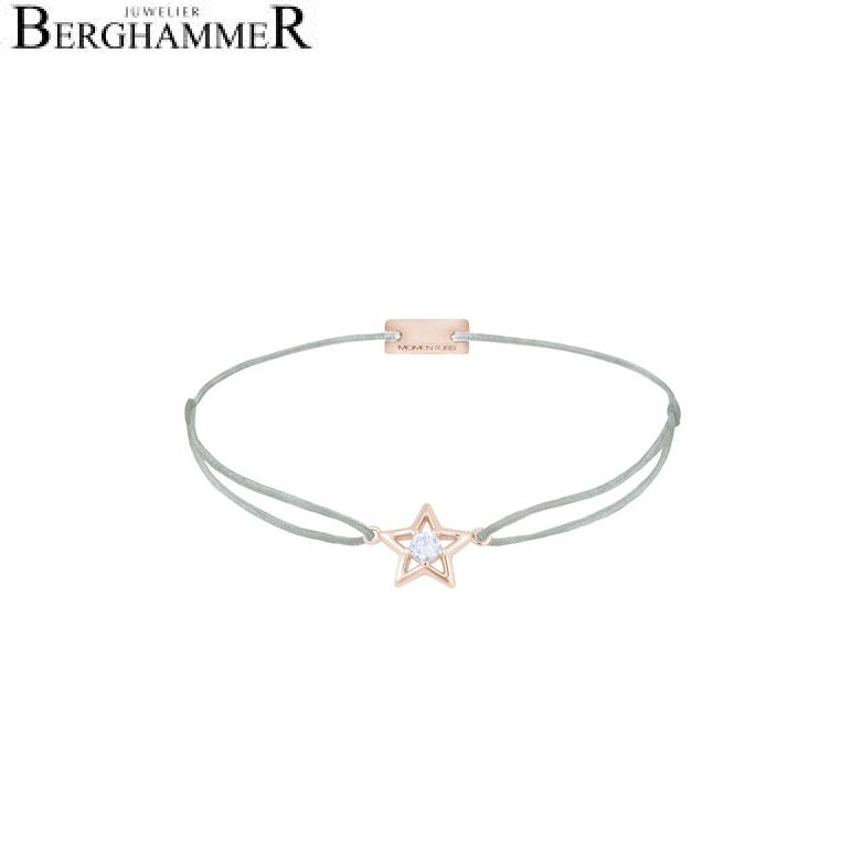Filo Armband Textil Hellgrau Stern 925 Silber roségold vergoldet 21204190