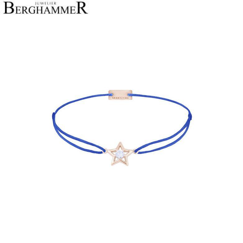 Filo Armband Textil Blitzblau Stern 925 Silber roségold vergoldet 21204194