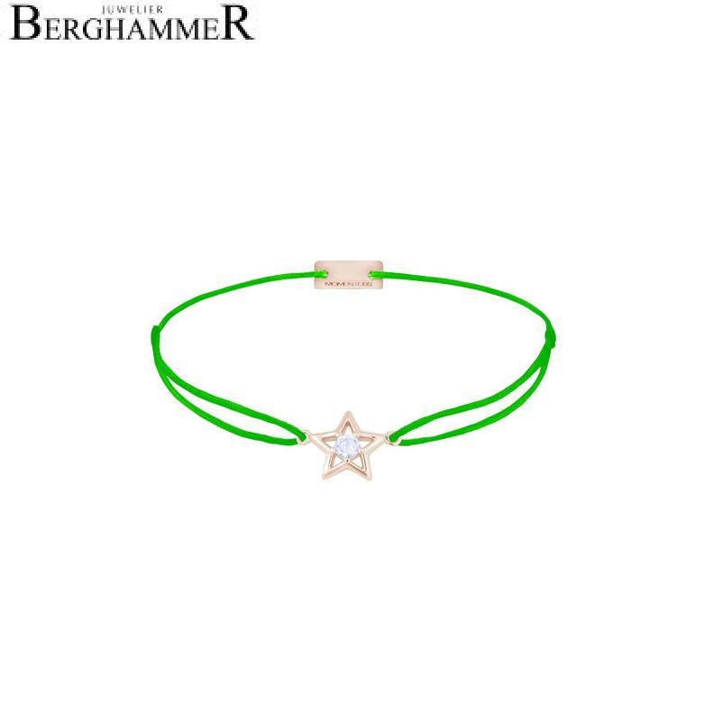 Filo Armband Textil Neon-Grün Stern 925 Silber roségold vergoldet 21204198