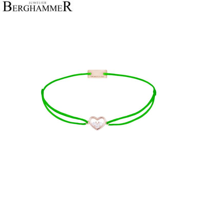 Filo Armband Textil Neon-Grün Herz 925 Silber roségold vergoldet 21204246
