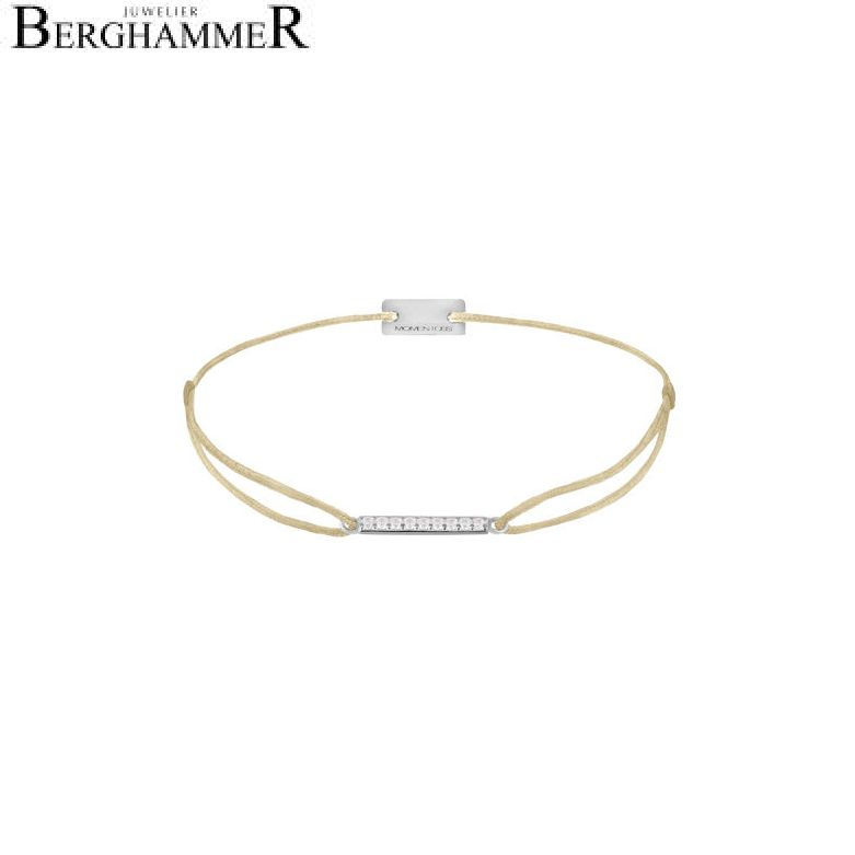 Filo Armband Textil Champagne Line 925 Silber rhodiniert 21204494