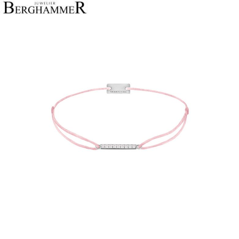 Filo Armband Textil Rosa Line 925 Silber rhodiniert 21204495
