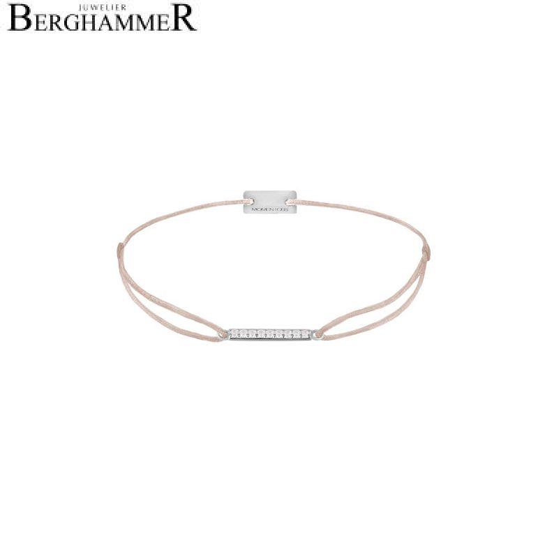 Filo Armband Textil Beige Line 925 Silber rhodiniert 21204498