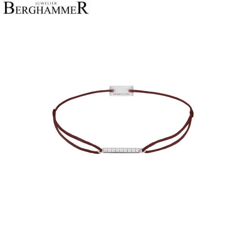 Filo Armband Textil Braun Line 925 Silber rhodiniert 21204499