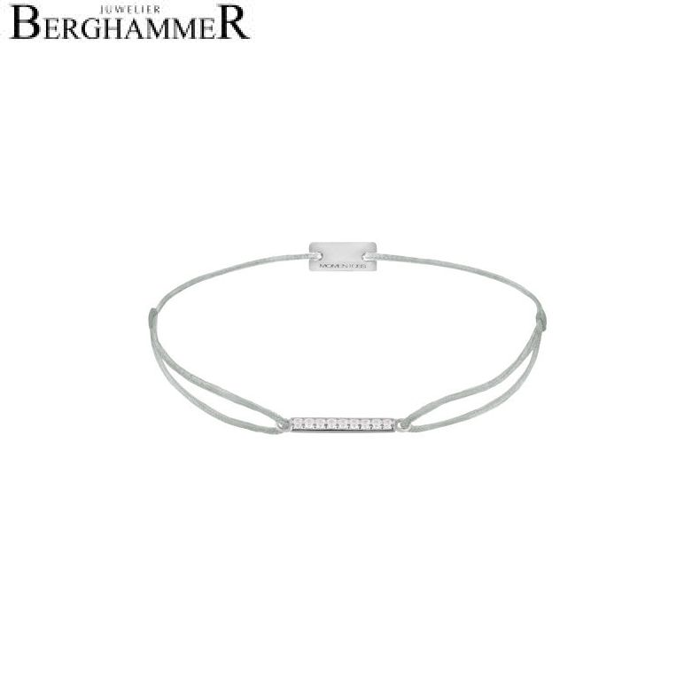 Filo Armband Textil Hellgrau Line 925 Silber rhodiniert 21204502
