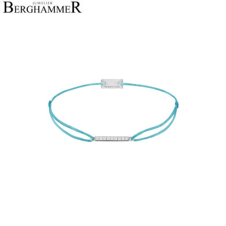 Filo Armband Textil Hellblau Line 925 Silber rhodiniert 21204505