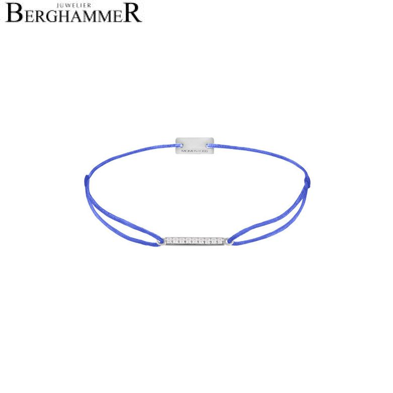 Filo Armband Textil Blitzblau Line 925 Silber rhodiniert 21204506