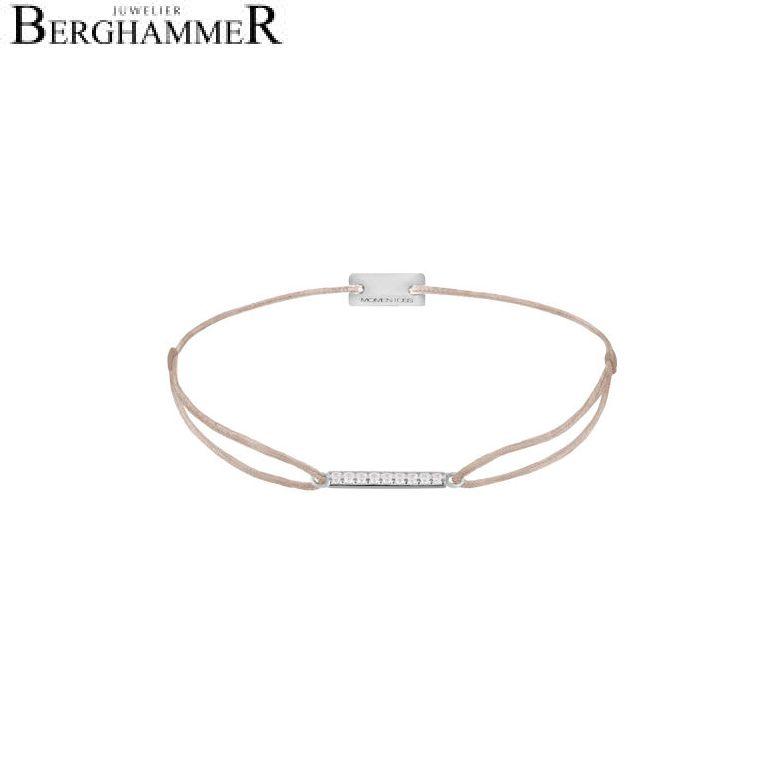 Filo Armband Textil Hellrosa Line 925 Silber rhodiniert 21204511