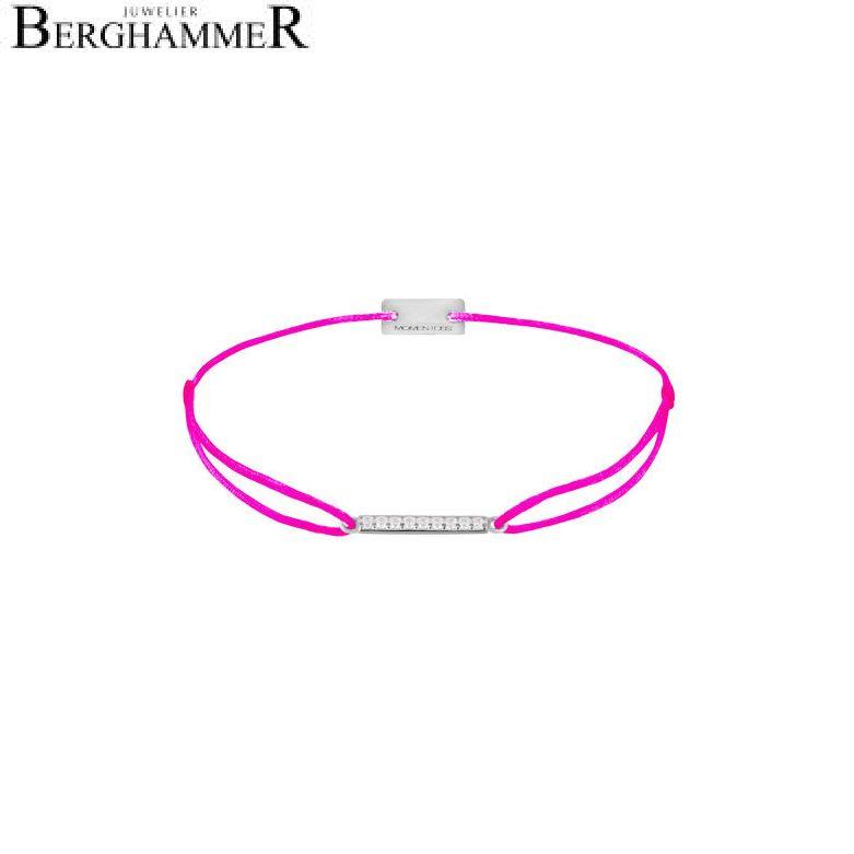 Filo Armband Textil Neon-Pink Line 925 Silber rhodiniert 21204514