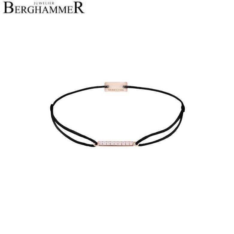 Filo Armband Textil Schwarz Line 925 Silber roségold vergoldet 21204517