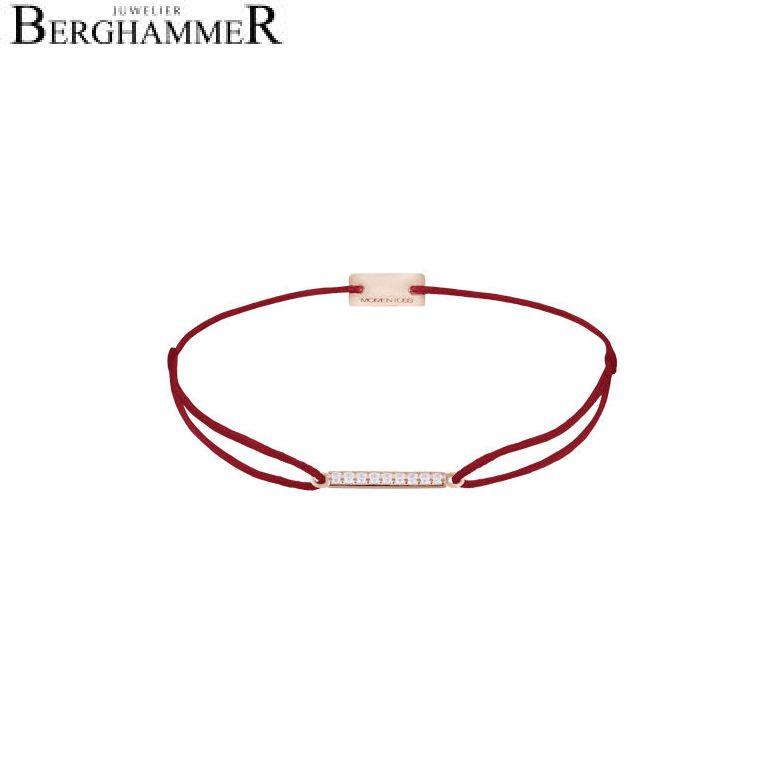 Filo Armband Textil Weinrot Line 925 Silber roségold vergoldet 21204520