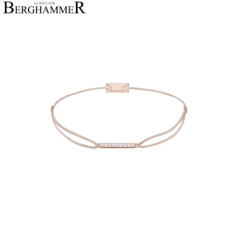 Filo Armband Textil Beige Line 925 Silber roségold vergoldet 21204522
