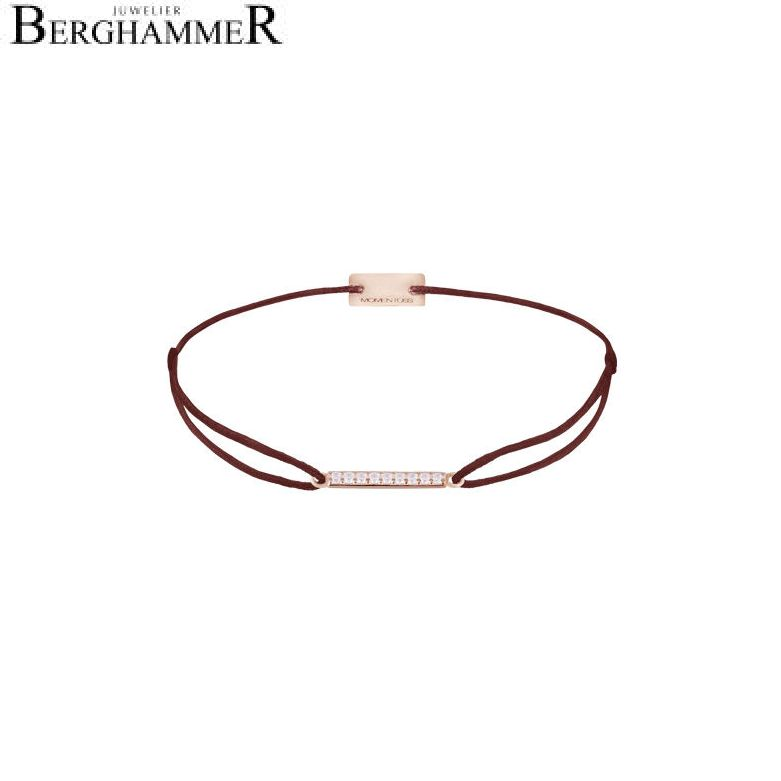 Filo Armband Textil Braun Line 925 Silber roségold vergoldet 21204523
