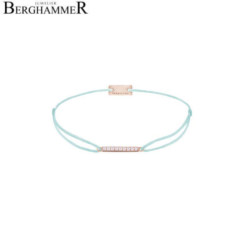 Filo Armband Textil Mint Line 925 Silber roségold vergoldet 21204527