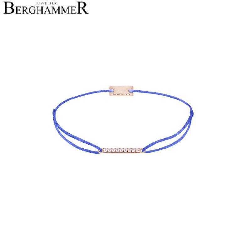 Filo Armband Textil Blitzblau Line 925 Silber roségold vergoldet 21204530