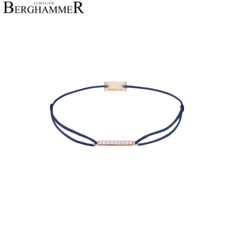Filo Armband Textil Dunkelblau Line 925 Silber roségold vergoldet 21204531