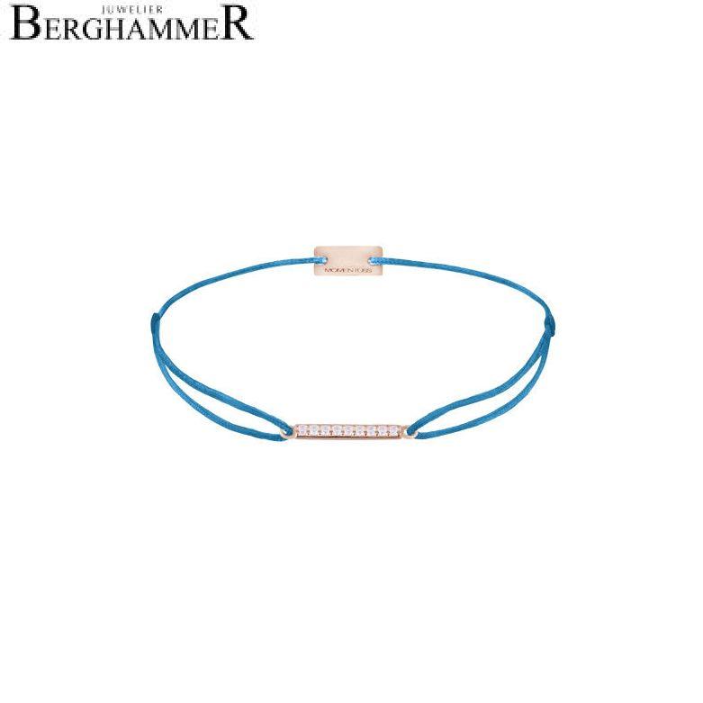 Filo Armband Textil Petrol Line 925 Silber roségold vergoldet 21204532
