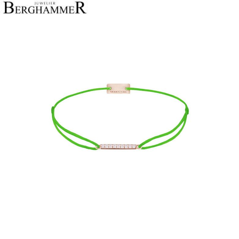 Filo Armband Textil Neon-Grün Line 925 Silber roségold vergoldet 21204534