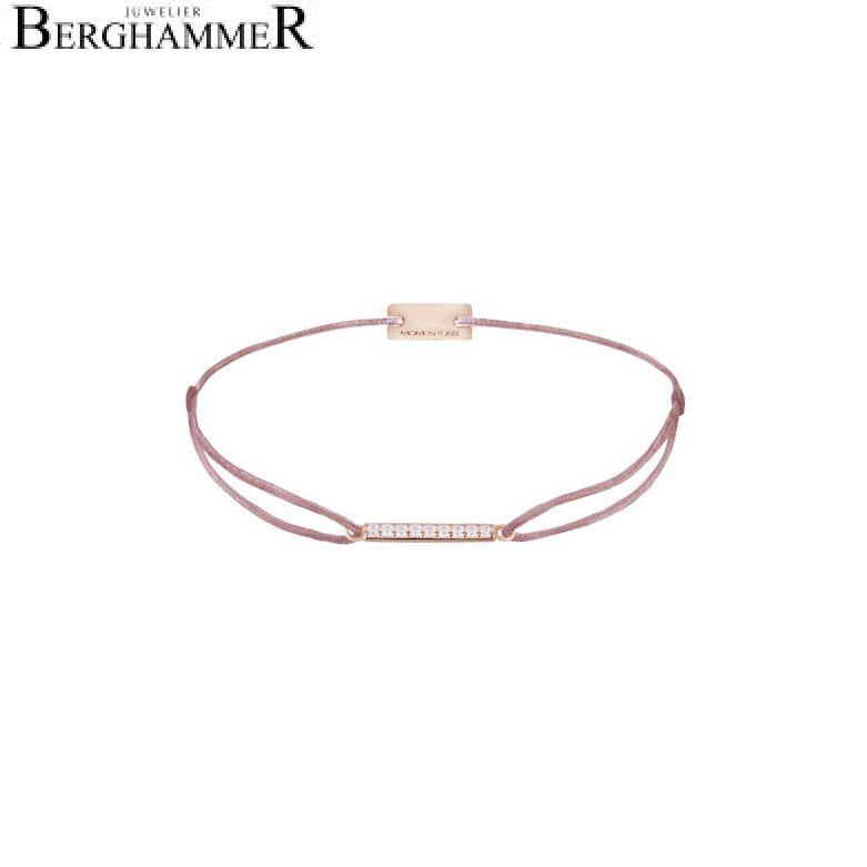 Filo Armband Textil Camel Line 925 Silber roségold vergoldet 21204536