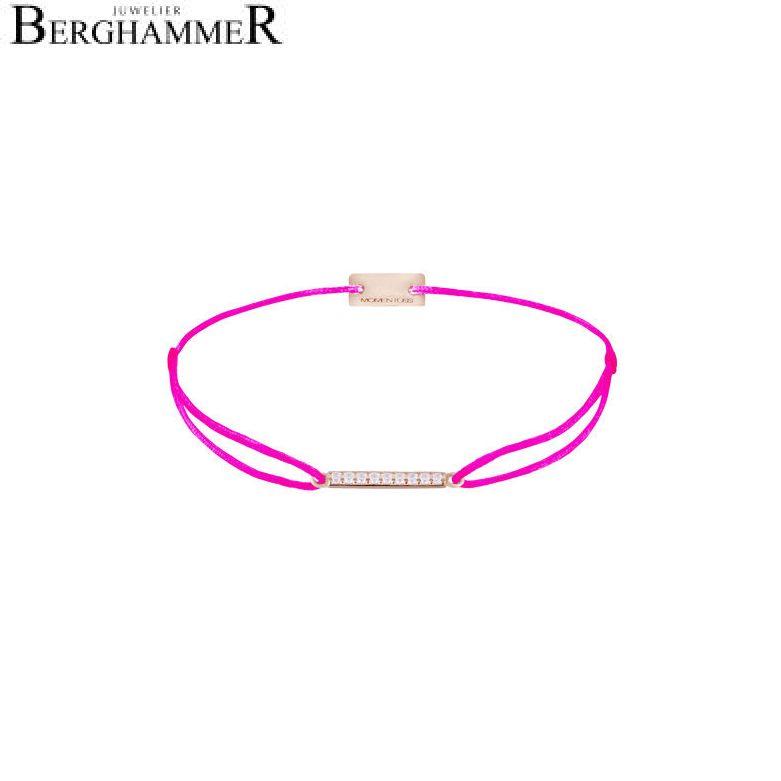 Filo Armband Textil Neon-Pink Line 925 Silber roségold vergoldet 21204538