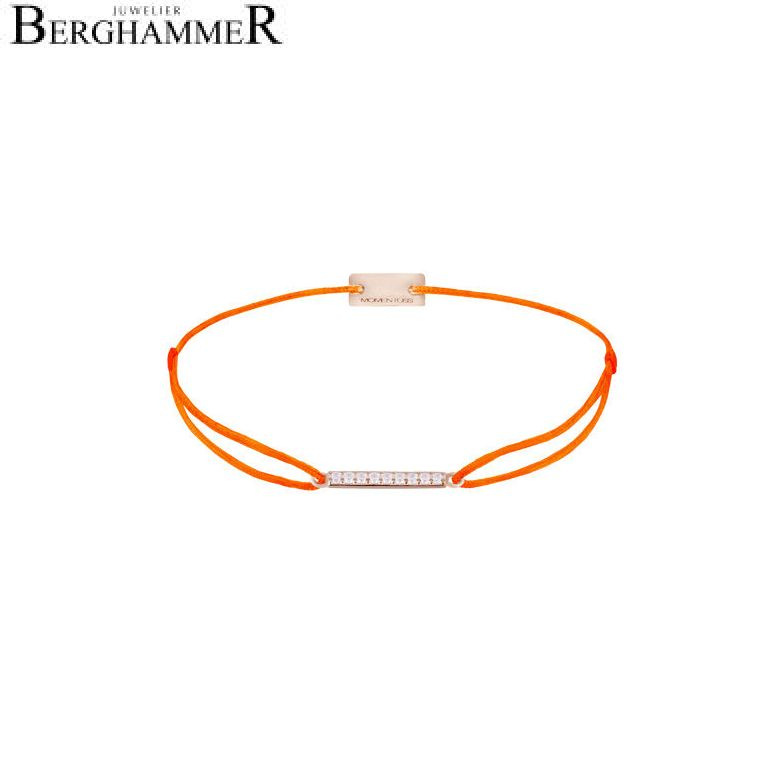 Filo Armband Textil Neon-Orange Line 925 Silber roségold vergoldet 21204539