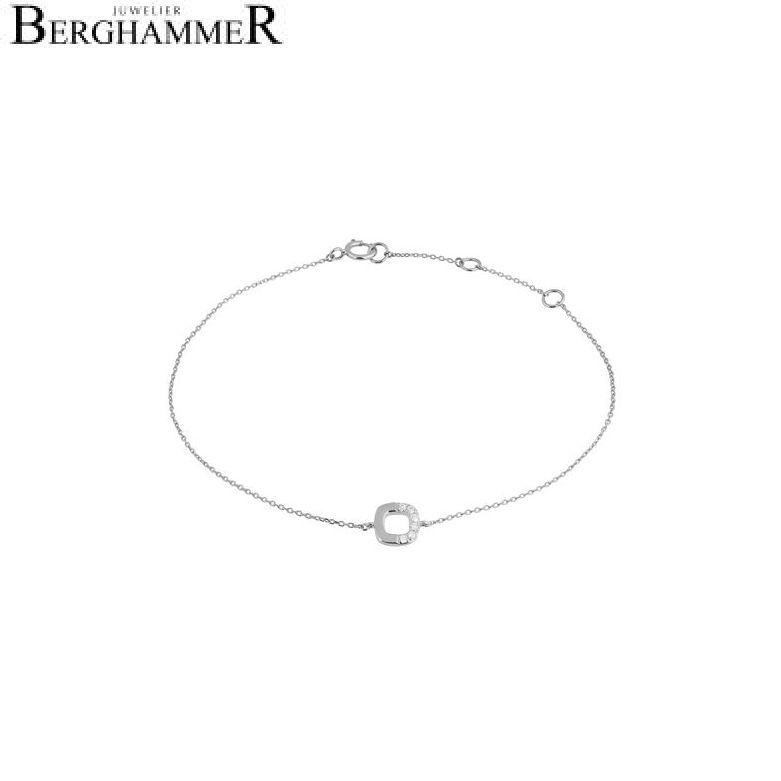 Fiore Armband 14kt Weißgold 21300136
