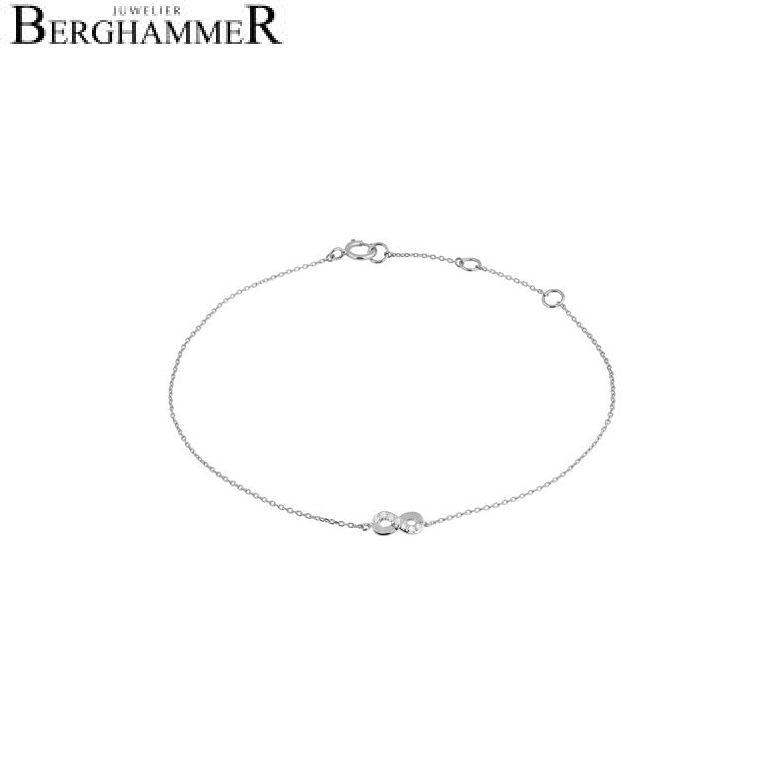 Fiore Armband 14kt Weißgold 21300139
