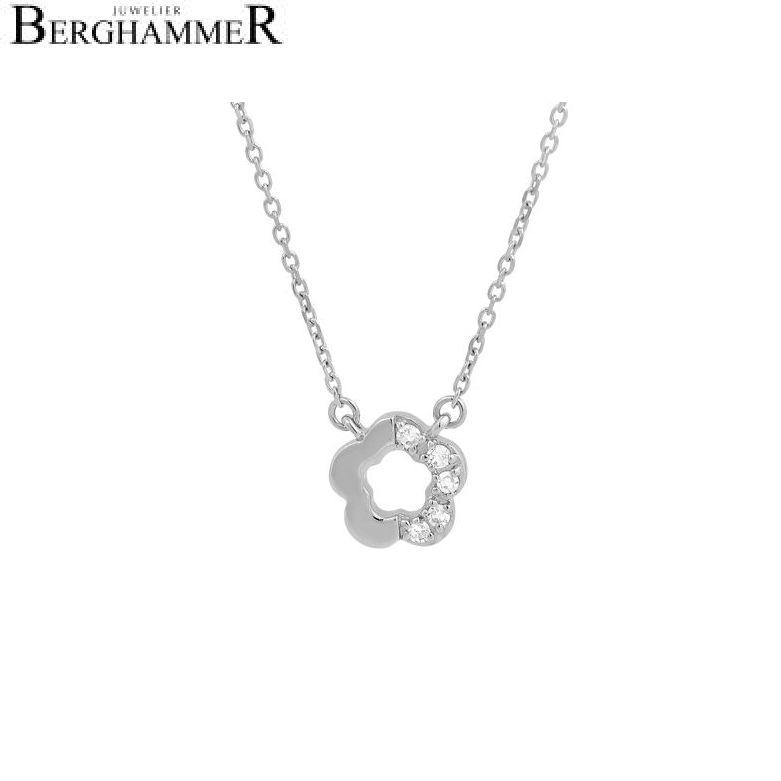 Fiore Halskette 14kt Weißgold 21300145
