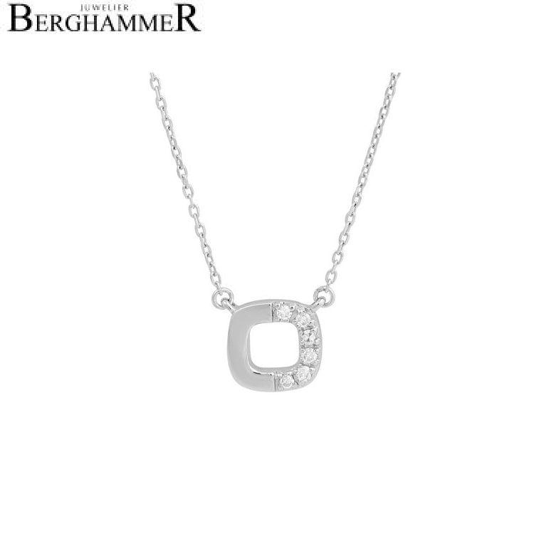 Fiore Halskette 14kt Weißgold 21300151