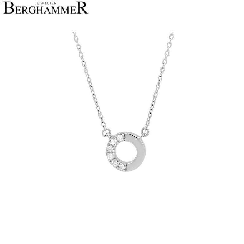 Fiore Halskette 14kt Weißgold 21300157