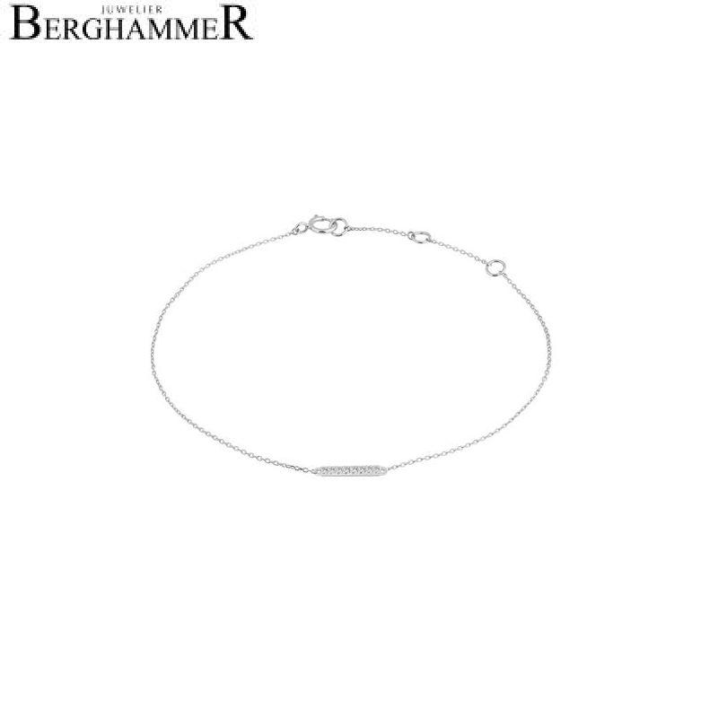 Fiore Armband 14kt Weißgold 21300193
