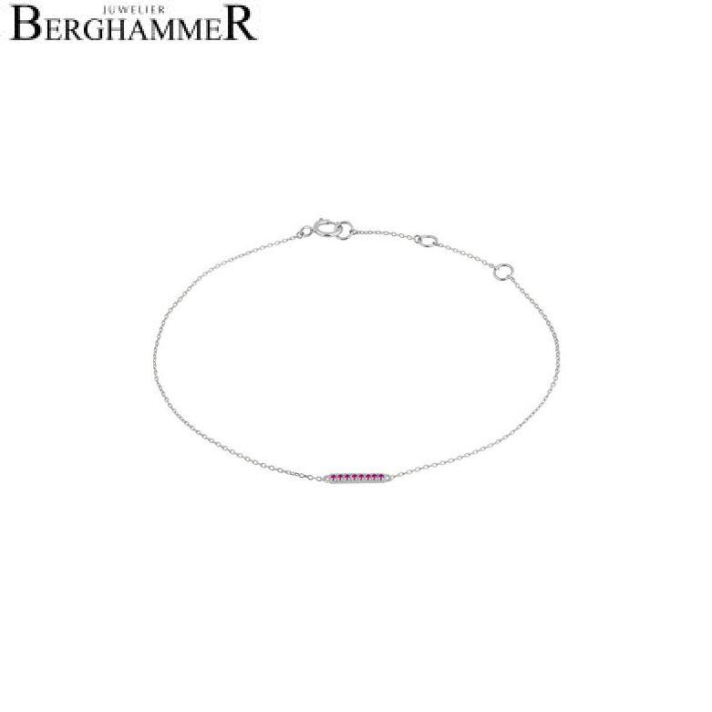 Fiore Armband 14kt Weißgold 21300202