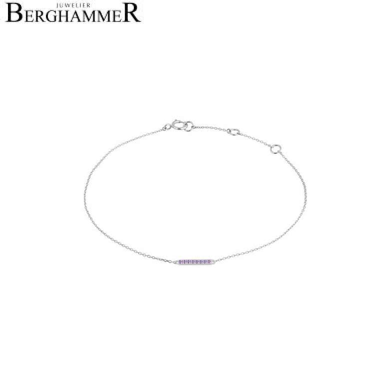 Fiore Armband 14kt Weißgold 21300205