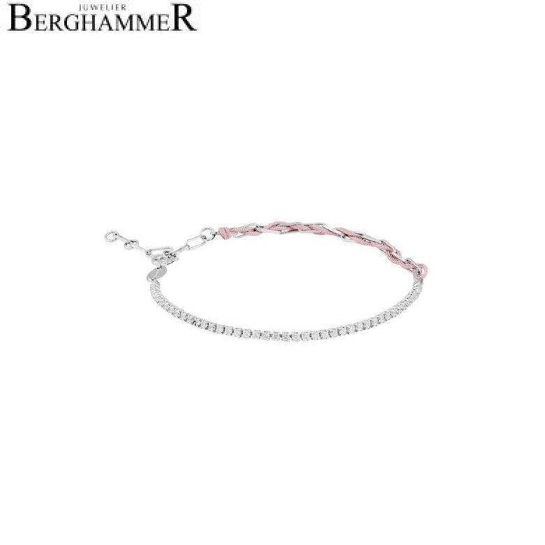 Unico Armband Hellrosa Zirkonia weiß 925 Silber rhodiniert 21700026