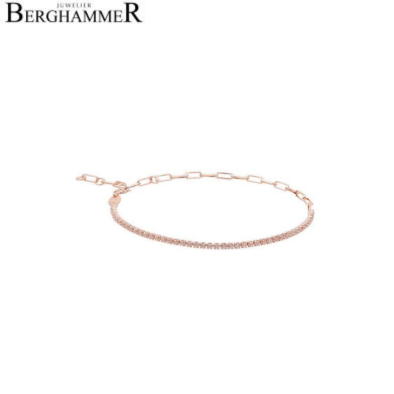 Unico Armband Zirkonia weiß 925 Silber roségold vergoldet 21700027