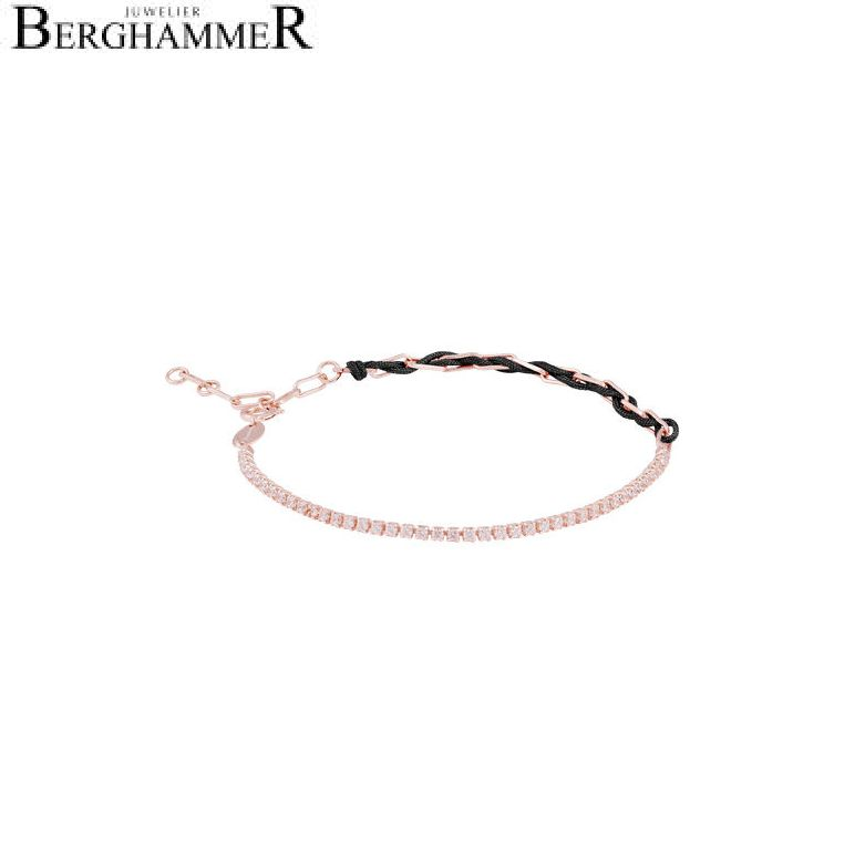 Unico Armband Schwarz Zirkonia weiß 925 Silber roségold vergoldet 21700029