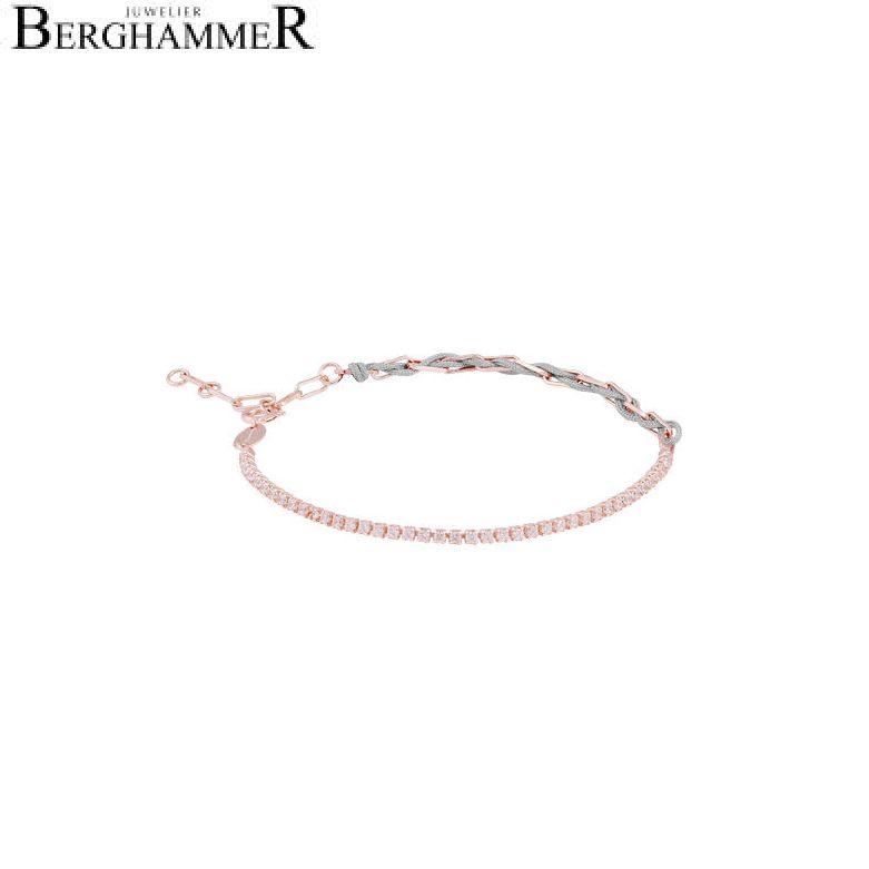 Unico Armband Hellgrau Zirkonia weiß 925 Silber roségold vergoldet 21700030